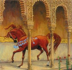 Horses in the Alhambra, Rabhar